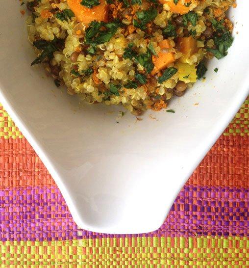 Quinoa e lenticchie alle spezie