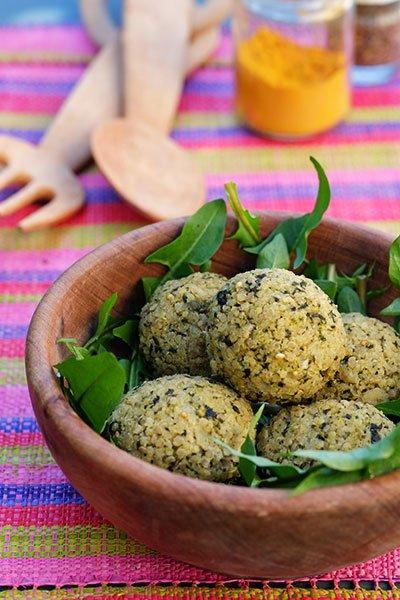 Polpettine di miglio, quinoa e ortica 6