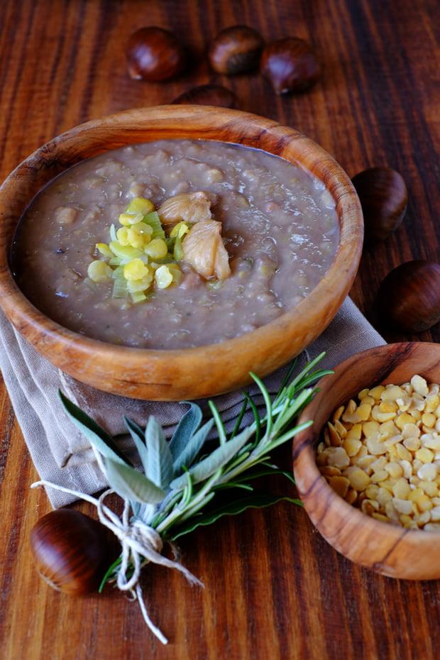 Zuppa di castagne e cicerchie 12