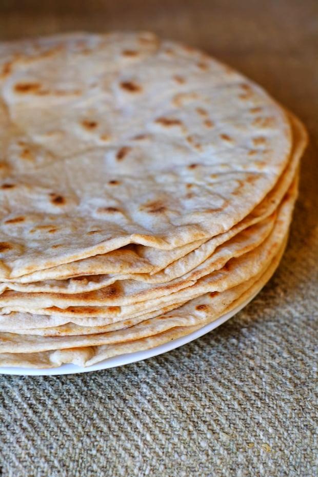 Piadina all'olio e.v.o. con farina semintegrale e pasta madre 7