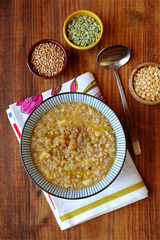 Zuppa di cereali e legumi con quello che c'è 5