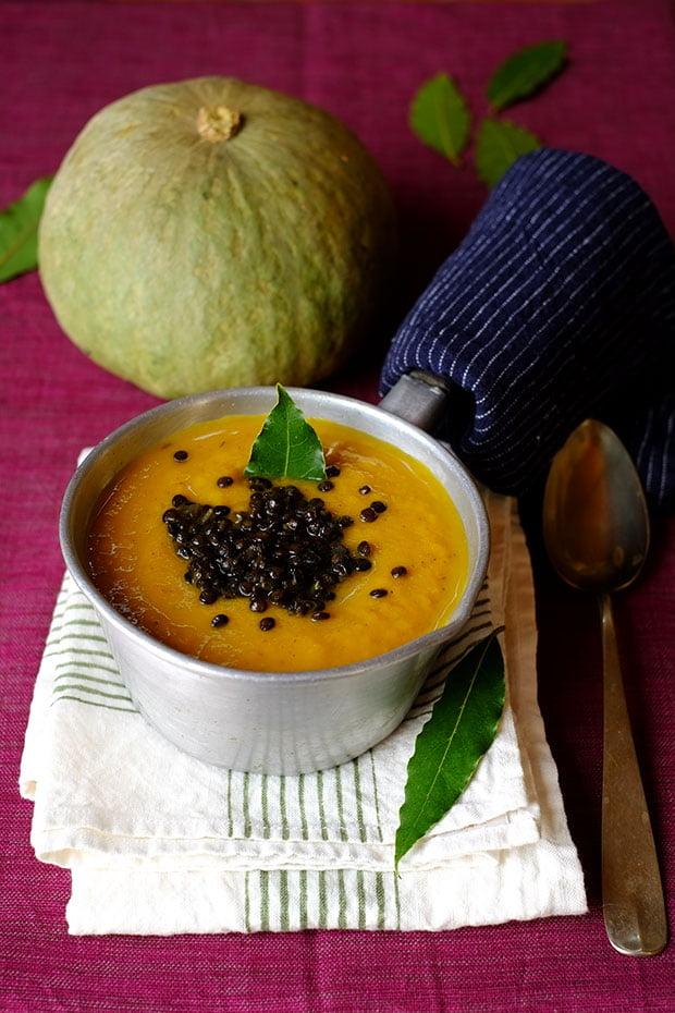 Crema di zucca al miso e garam masala con lenticchie nere 24