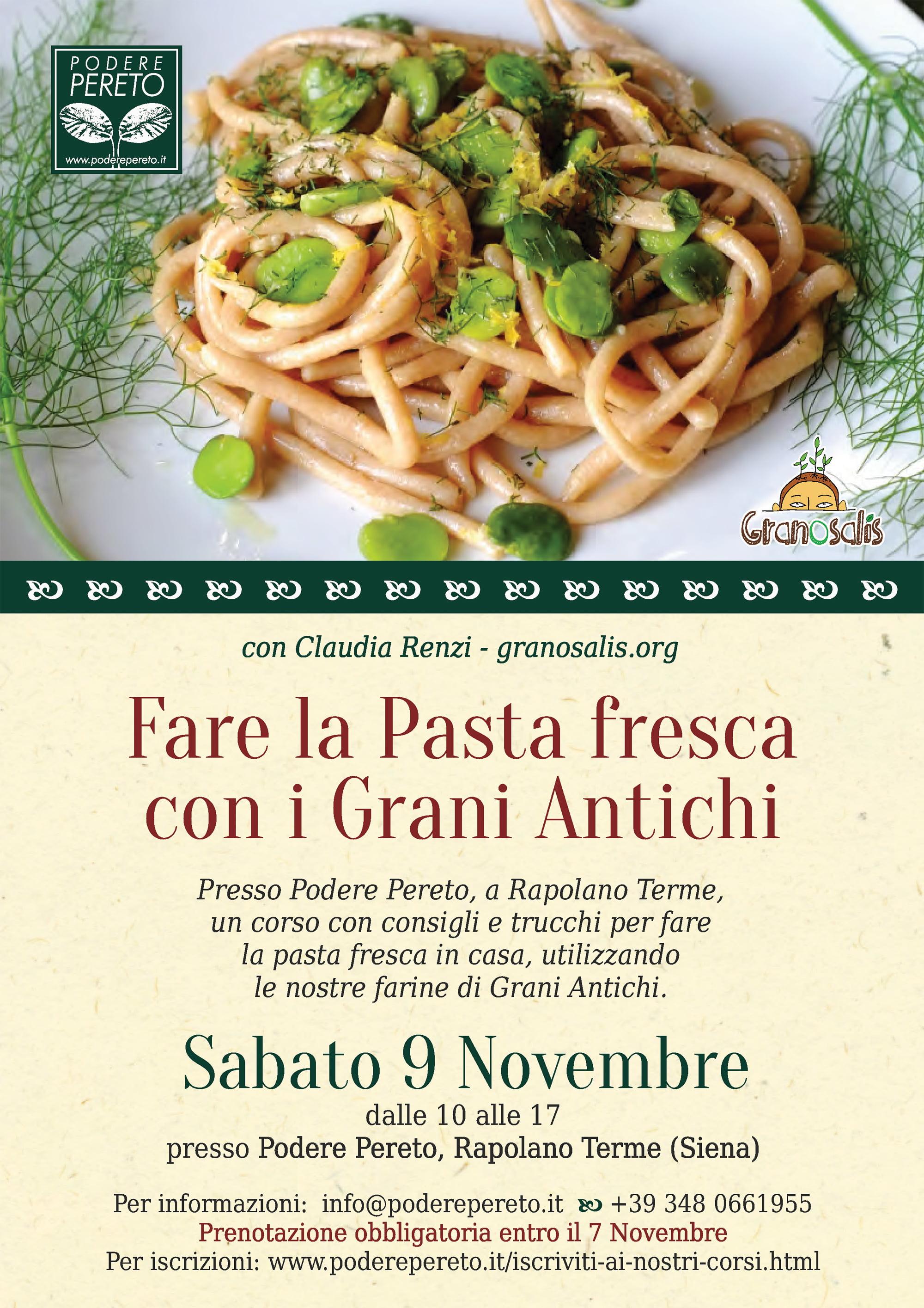 La pasta fresca con i grani antichi - Corso base 7