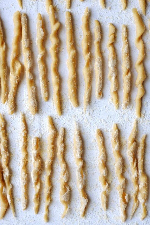 Trofie di grani antichi al pesto di fave e aglio orsino 3